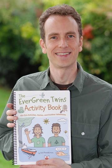 Rick Reynolds, proud papa of the EverGreen Twins